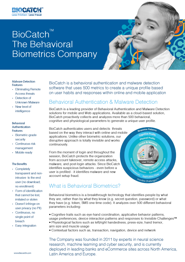 BioCatch One Pager