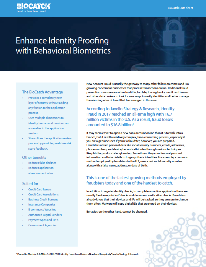 Behavioral Biometrics and Online Fraud Resources | BioCatch